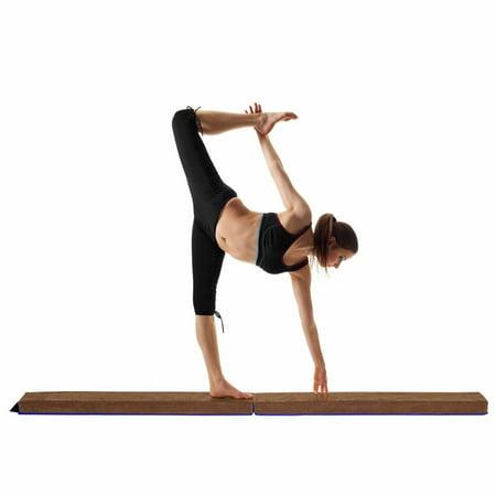 GOPLUS Poutre de Gymnastique Pliable Poutre d'Equilibre Enfants et Adultes Entraînement de Gymnastique à Domicile Bleu Café - image 10 de 10