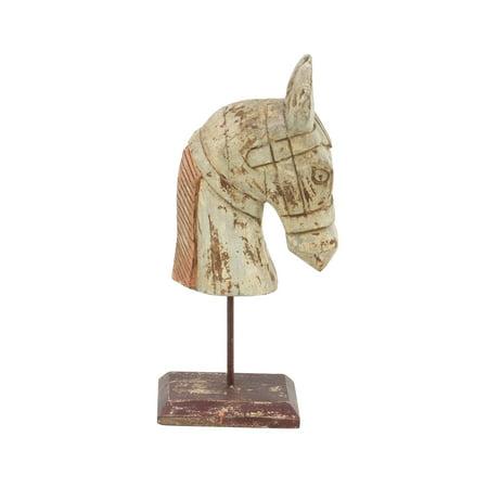 Decmode Farmhouse 18 X 7 Inch Horse Head Sculpture