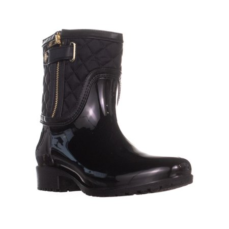 Womens Tommy Hilfiger Francie Zip Up Mid Calf Rain Boots, Black Sexy Mid Calf Boots