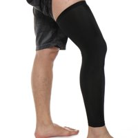 FITTOO 1PCS Compression Leg Sleeves for Men Women - Full Length Stretch Long Sleeve with Knee Support Non-Slip Inner Bands