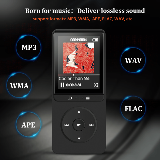 AGPTEK 16GB MP3 Player with FM Radio/Voice Recorder, 80
