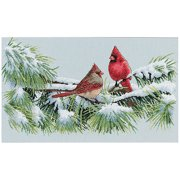 "Dimensions ""Winter Cardinals"" Counted Cross Stitch Kit, 15"" x 9"""