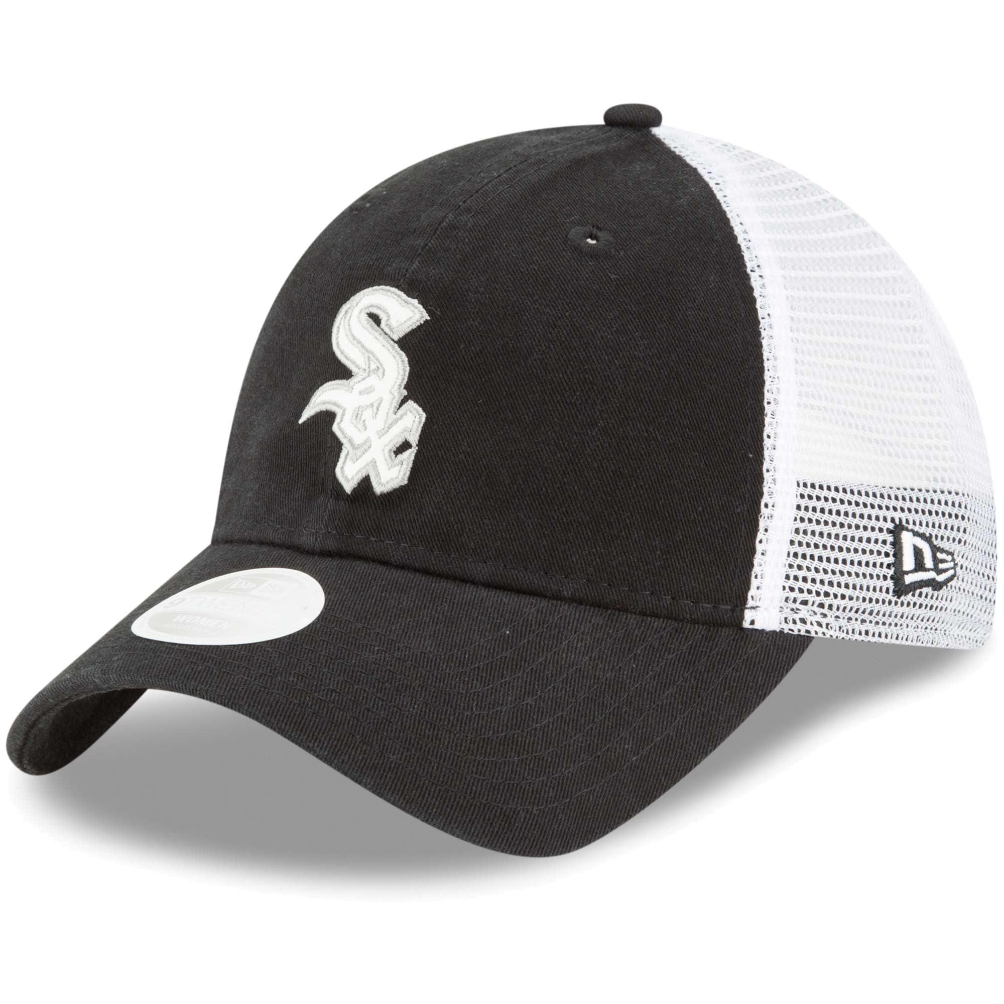 Chicago White Sox New Era Women's Trucker Shine 9TWENTY Adjustable Hat - Black - OSFA