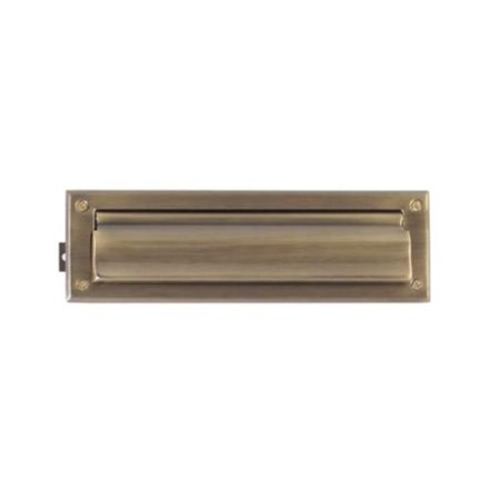 Brass Mail Slot - Brass Accents A07-M0010-609 Mail Slot - 3.63 in. x 13 in. - Antique Brass