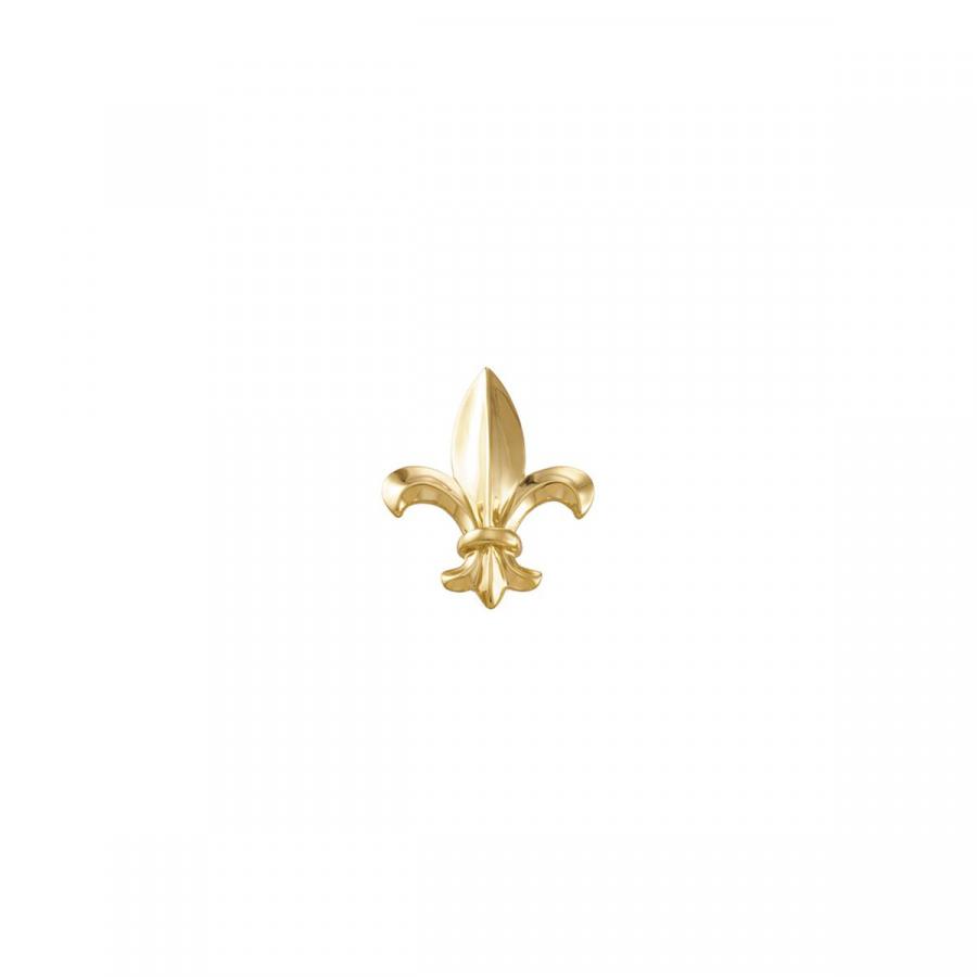 Fleur-de-lis Brooch 8478   14Kt Yellow   33.00X26.00 Mm   Polished   Fleur De Lis Brooch by Midwest Jewellery