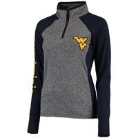 West Virginia Mountaineers Women's Finalist Quarter-Zip Pullover Jacket - Gray/Navy
