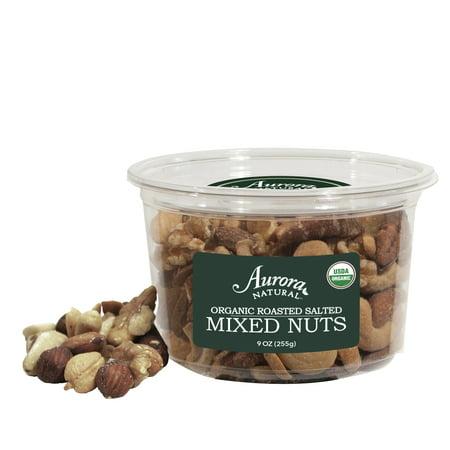 Aurora Salt - Aurora Natural Organic Mixed Nuts, Salted, 9 Oz