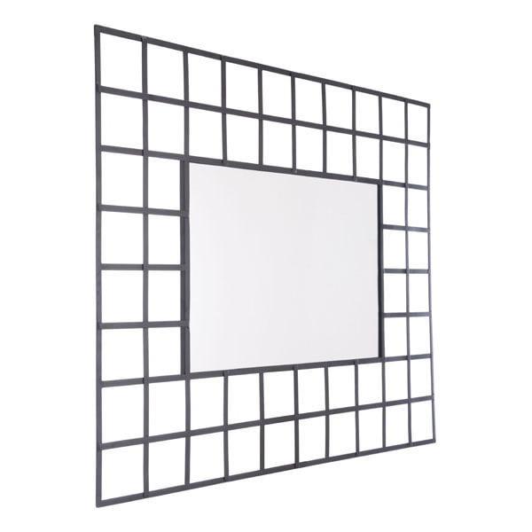 Cuadritos Rectangular Mirror Small Black by Zuo Modern