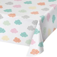 Sunshine Baby Showers Party Plastic Tablecloth, 1ct