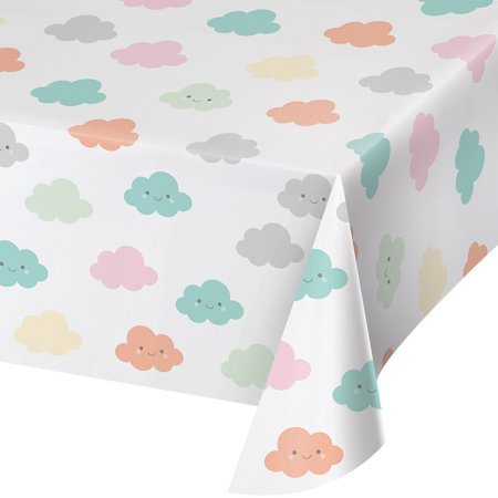 Sunshine Baby Showers Plastic Table Cover, 1ct (Baby Shower Party Table Cover)