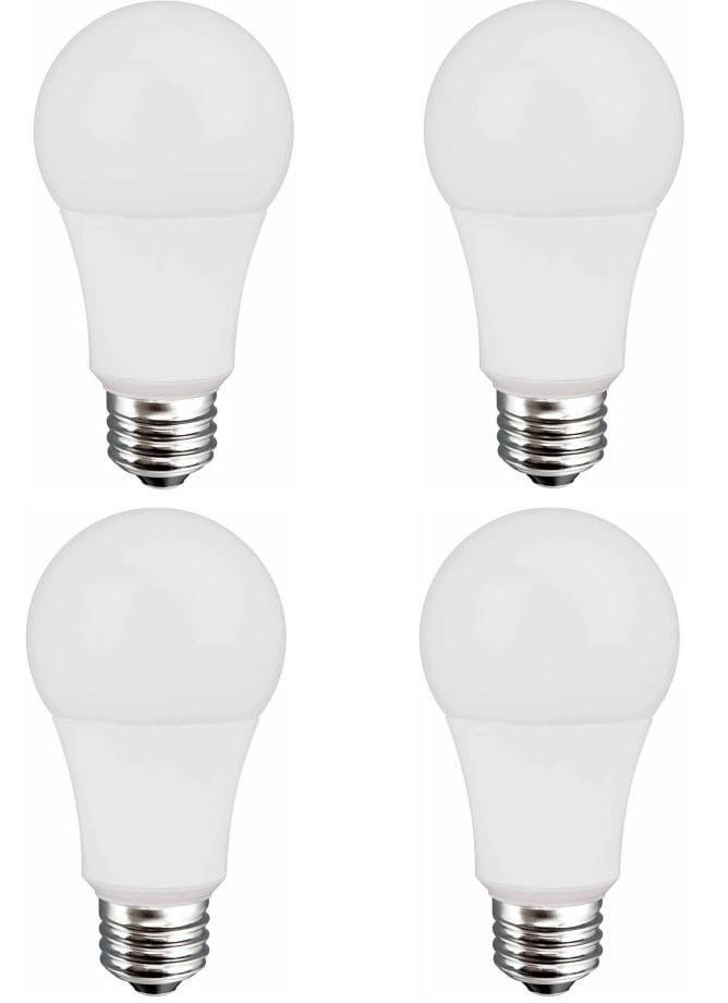 Led Light Bulb Daylight: (4 Pack) Great Value LED Light Bulb 9W (60W Equivalent