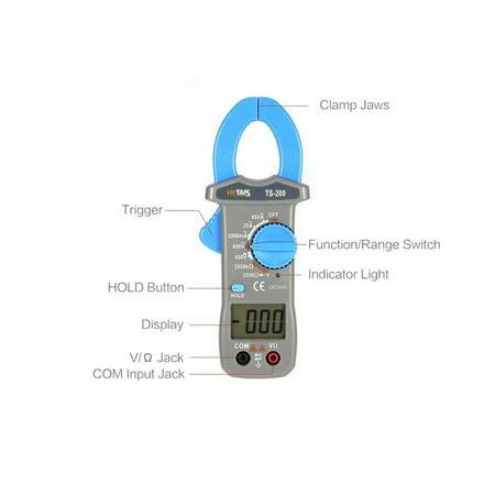 HYTAIS TS200 Mini Digital Clamp Meter Multimeter AC/DC Tester Voltmeter - image 4 of 8