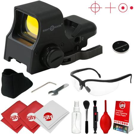 Sightmark Ultra Shot Pro Spec Sight NV QD Red Dot Sight w/ Clear Ballistic Glasses + Optical Cleaning Kit (SM14002)