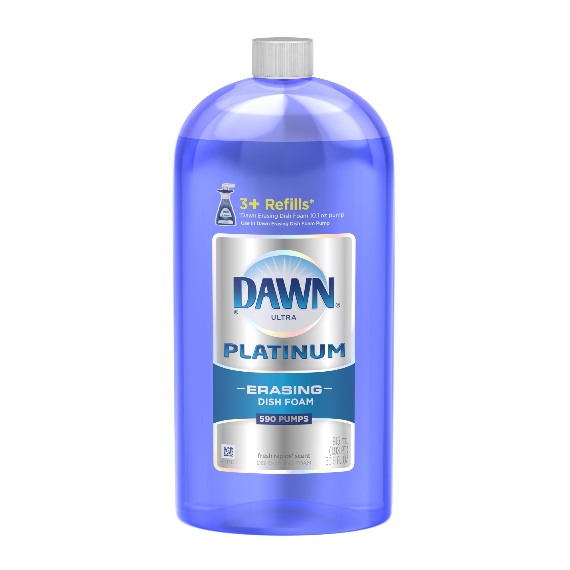 Dawn Ultra Platinum Erasing Dish Foam, Fresh Rapids, 30.9 fl oz