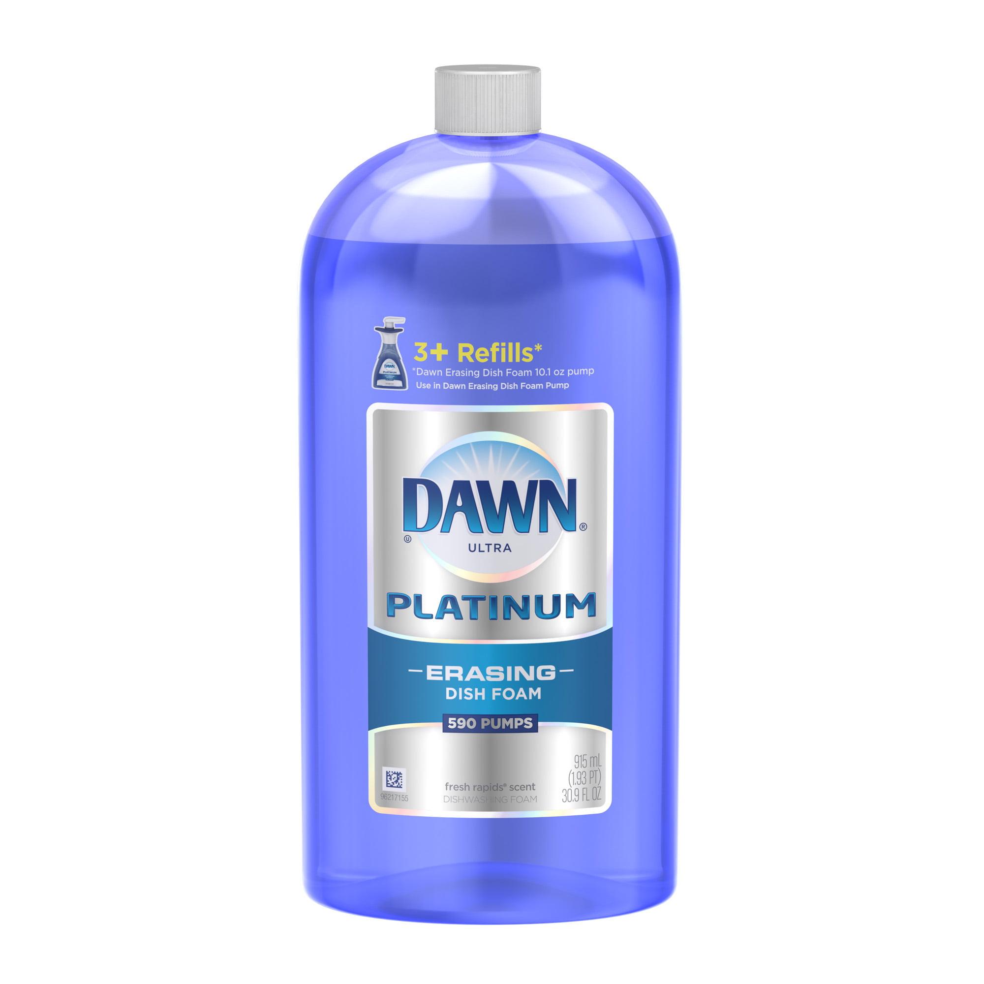 Dawn Ultra Platinum Erasing Dish Foam, Fresh Rapids, 30.9 fl oz