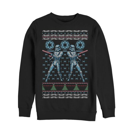 Star Wars Men's Ugly Christmas Sweater Candy Stormtrooper Sweatshirt](Star Wars Sweaters)