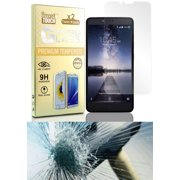 ZMAX PRO TEMPERED GLASS, 2X CLEAR HARD TEMPERED GLASS SCREEN PROTECTOR CRACK SAVER FOR ZTE ZMAX PRO Z981 (METROPCS)