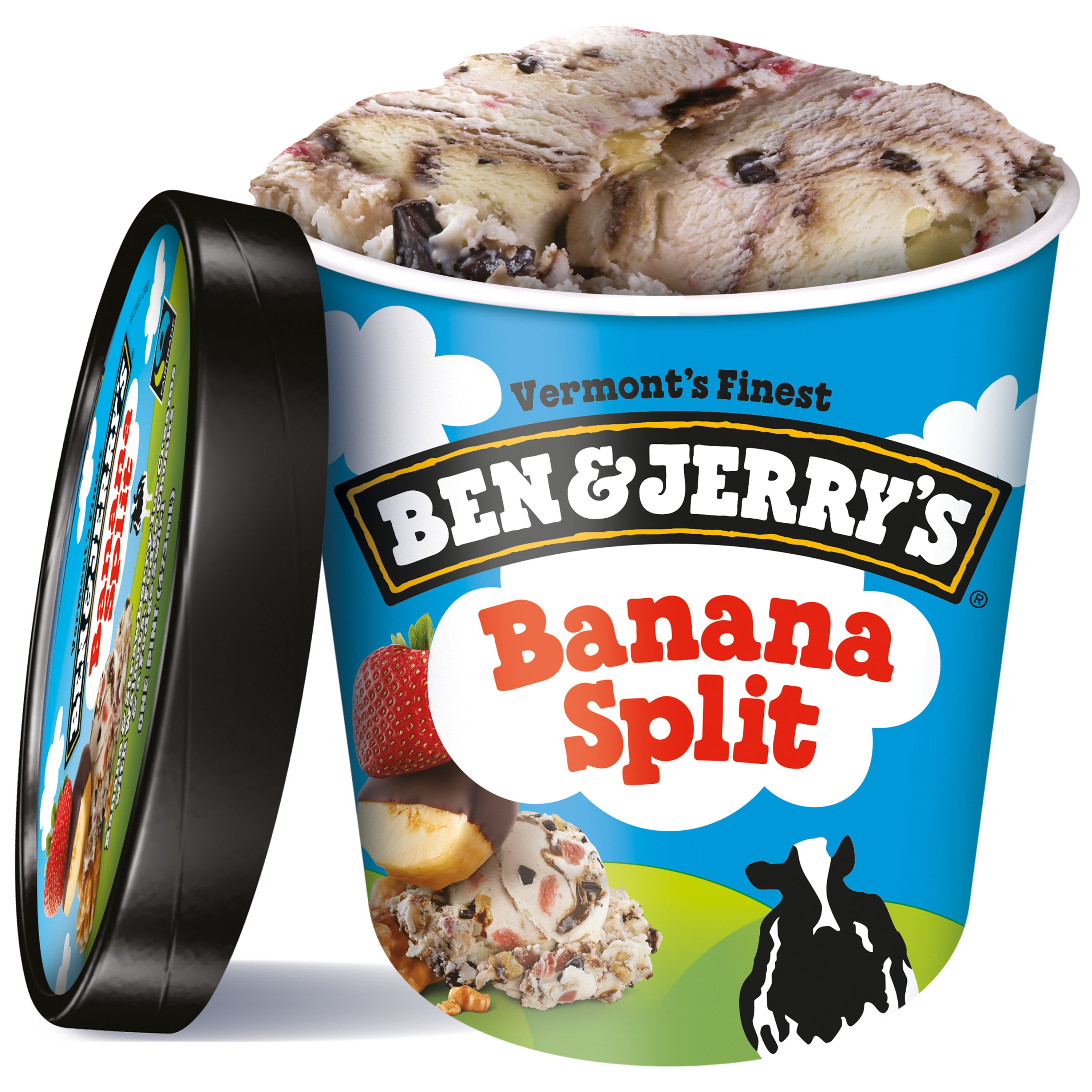 Ben & Jerry's Banana Split Ice Cream, 16 oz