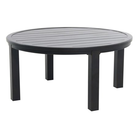 Royal Garden Indigo 48 in. Round Aluminum Patio Chat Table