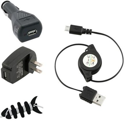 Insten Black Car Ac Charger Cable For Kindle Touch Fire