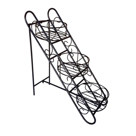 Pangaea Home and Garden BT-FL0713BSKT Folding Plant Stand with Three Basket - image 1 of 1