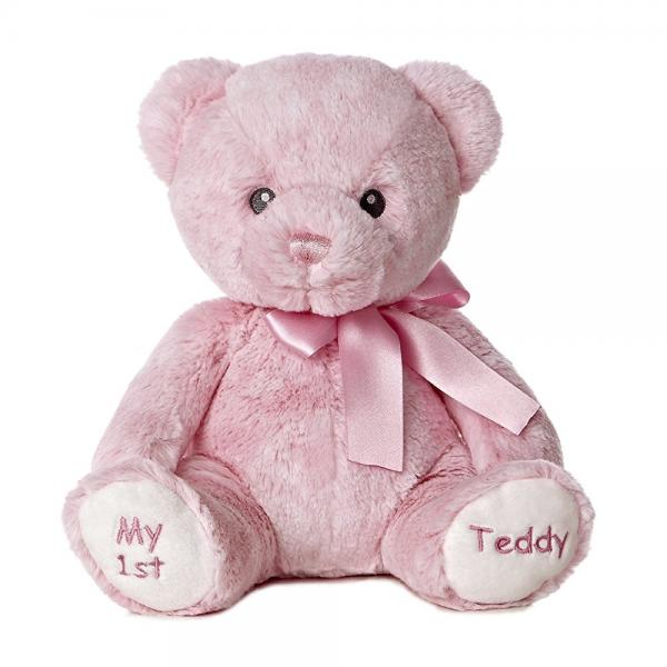 Aurora World Baby My 1st Teddy Bear Plush, Pink, 12 Tall by