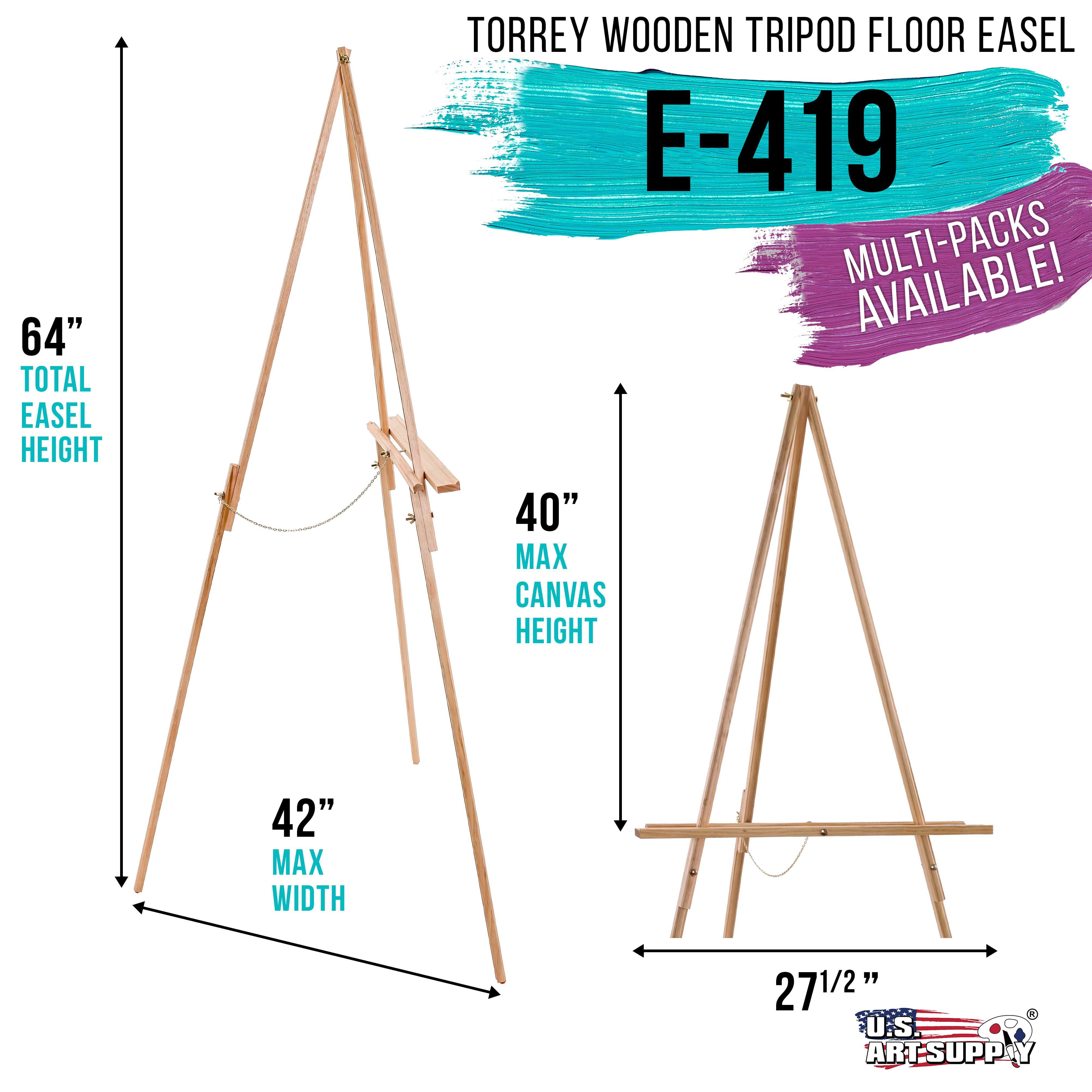 """64/"""" Torrey Wooden A-Frame Tripod Artist Floor Easel Adjustable Display Stand"""