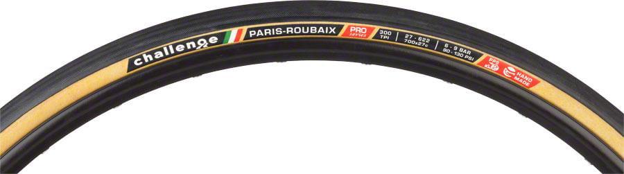 Black 700x27 Challenge Paris-Roubaix Tire: Clincher Open Tubular 300tpi