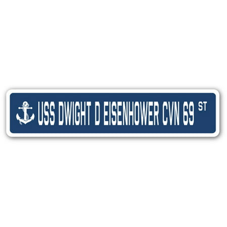 USS Dwight D Eisenhower Cvn 69 Street [3 Pack] of Vinyl Decal Stickers | Indoor/Outdoor | Funny decoration for Laptop, Car, Garage , Bedroom, Offices | SignMission - Dwight Office Halloween