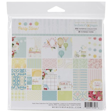 Webster's Pages Paper Pad 6inX6in 24/Pkg-Party Time!