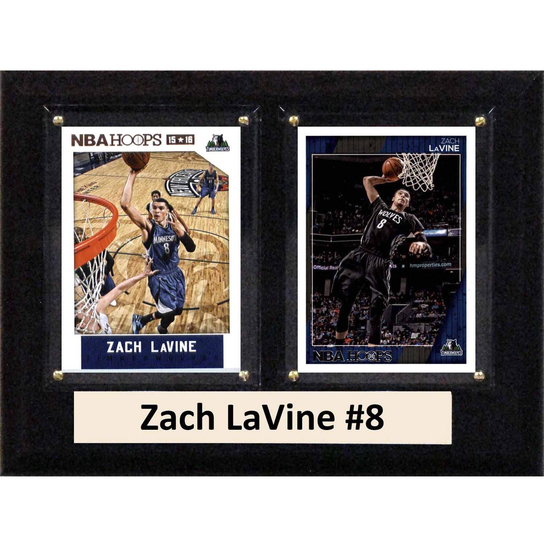 "C & I Collectables NBA 6"" x 8"" Zach Lavine Minnesota Timberwolves 2 Card Plaque"