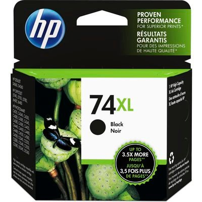 HP 74XL   Ink Cartridge   Black   ~750 pages   -