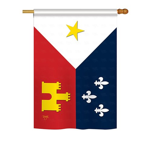 Breeze Decor Acadiana 2 Sided Vertical Flag