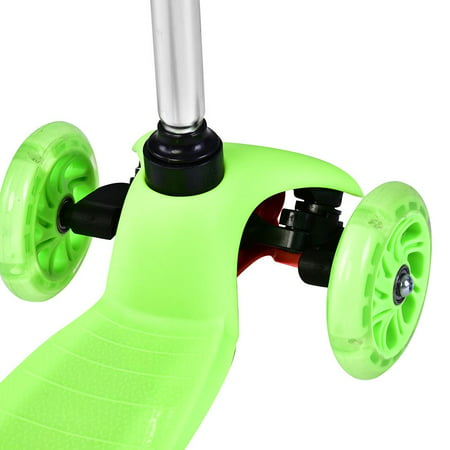 Lv. life Height Adjustable Folding 3-Wheel Scooter PU Wheels for Toddler Kids Child Gifts, Adjustable Kid Scooter, 3 Wheel
