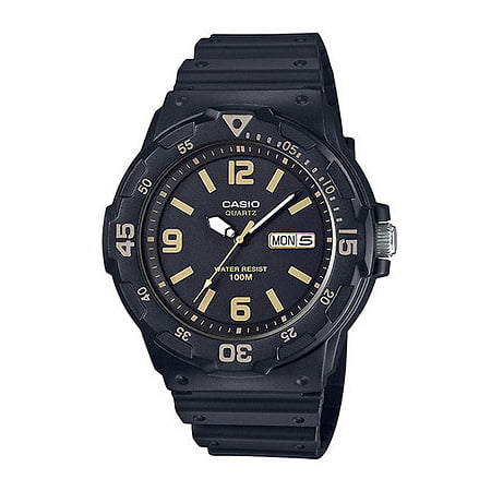 Casio MRW200H-1B3V Men's Black Resin Strap 100M Sports Day Date Black Dial Watch
