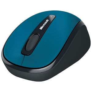 Microsoft Wireless Mobile Mouse 3500 - BlueTrack - Wireless - Radio Frequency - Cyan Blue - USB 2.0 - 1000 dpi - Scroll Wheel - 3 Button(s) - Symmetrical MOUSE MAC WIN USB