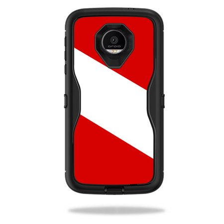 MightySkins Protective Vinyl Skin Decal for OtterBox Defender Moto Z Force Droid Case wrap cover sticker skins Scuba Flag ()