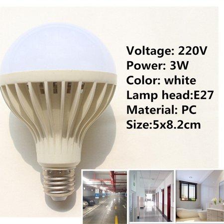 220v Led Body Ball Bulb Human With Light E27 Sensor Inductionamp; xdoCBer