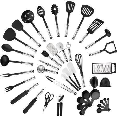 Klee Nylon Kitchen Utensil Set 42 Pc Stainless Steel