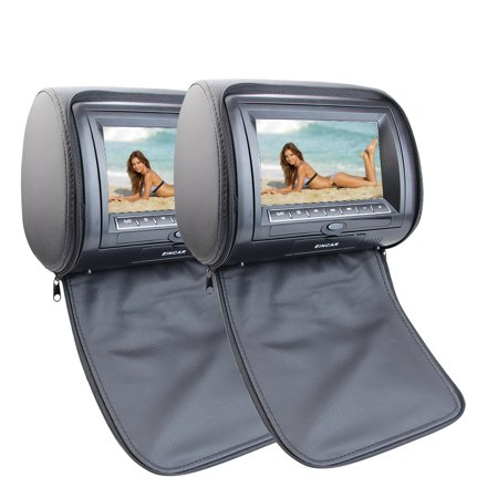Pair of Headrest Car Pillow Monitors with Region Free 7