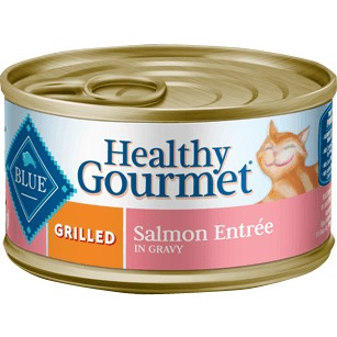 Blue Healthy Gourmet Grilled Salmon Entrée For Adult Cats
