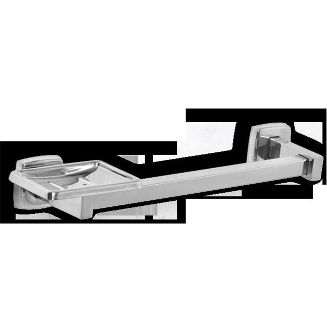 AJW UX125-SF Satin Soap Dish & Wash Cloth Bar - Surface Mounted