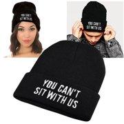 Zodaca Black Style 6 Unisex Knit Hip-hop Fashion Beanie Hats