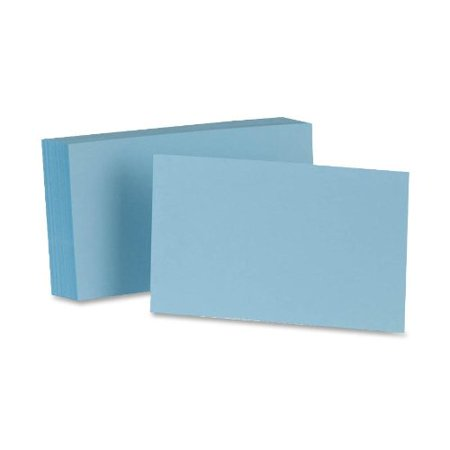 Unruled Index Cards, 5 x 8 Inches, Blank, Blue, 100/Pack (7520-BLU), 5 x 8 size By Oxford