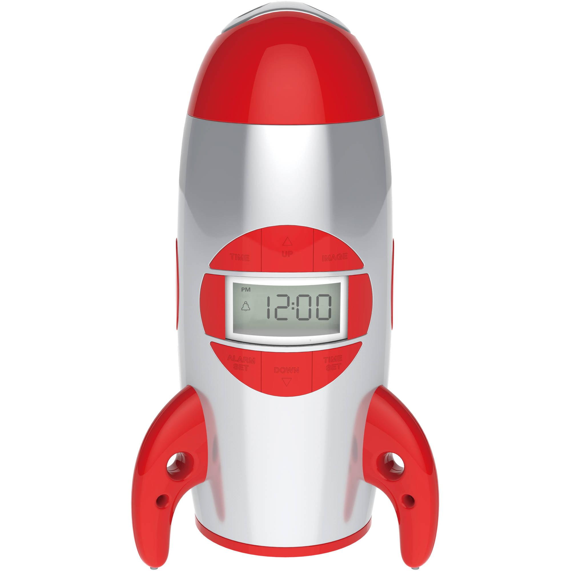Rocket Ship Projection Alarm Clock
