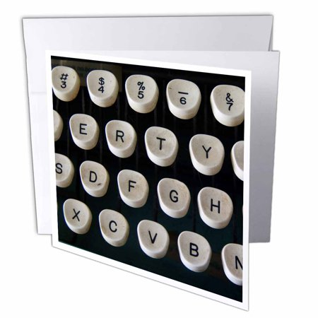 3dRose This Old Typewriter, Greeting Cards, 6 x 6 inches, set of 12