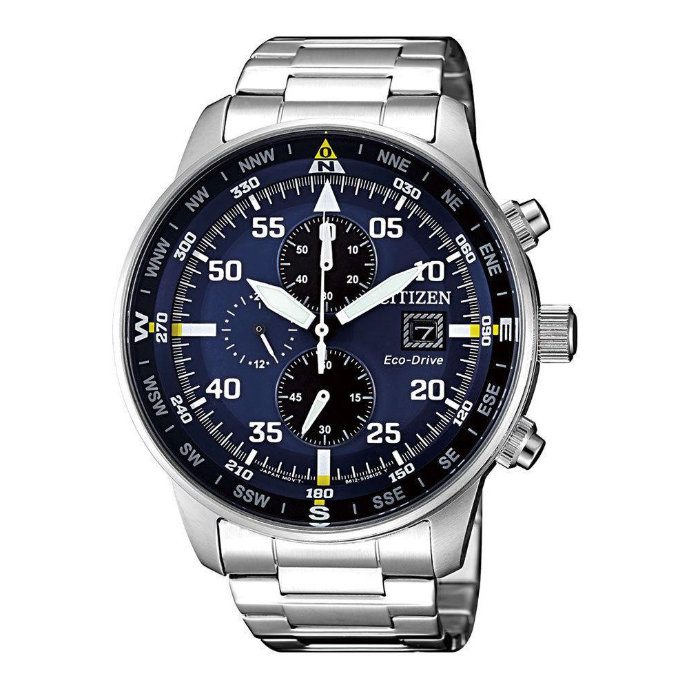 Citizen Crono Aviator Men's Eco Drive Chronograph Watch - CA0690-88L