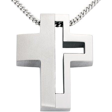 Colibri mens steel and titanium cross necklace walmart colibri mens steel and titanium cross necklace aloadofball