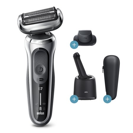 $20 Mail-In Rebate Available Braun Series 7 7071cc Flex Wet Dry Electric Shaver, SmartCare Center