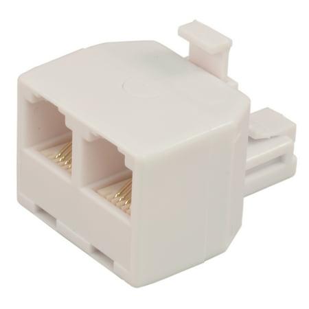 PTC RJ11 (Phone Jack) T-Adapter (Double Phone Jack)